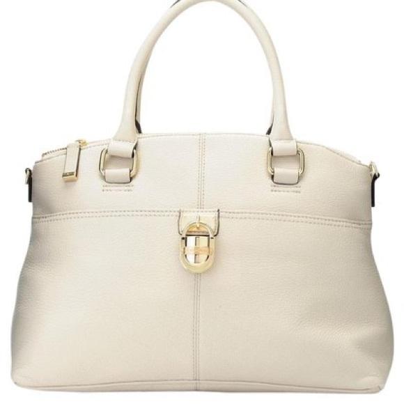 0d58c86dc1 Calvin Klein Handbags - Calvin Klein Ivory Leather Satchel